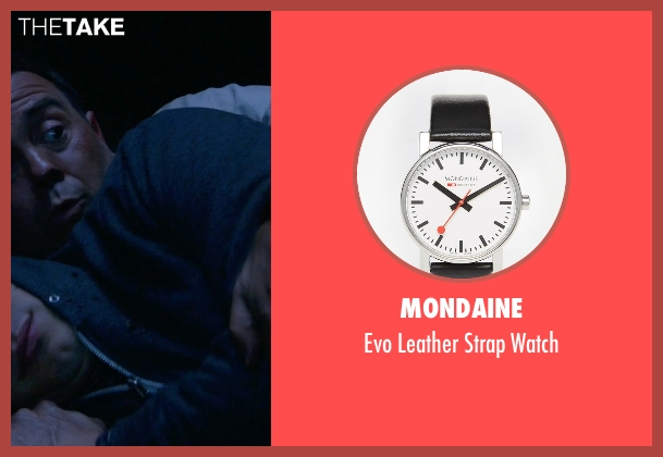 Mondaine black watch from Brooklyn Nine-Nine seen with Charles Boyle (Joe Lo Truglio)