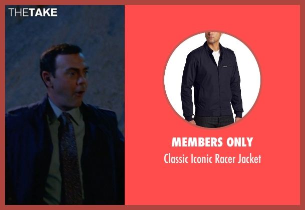 Members Only blue jacket from Brooklyn Nine-Nine seen with Charles Boyle (Joe Lo Truglio)