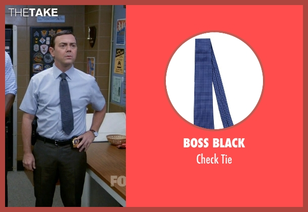 Boss Black blue tie from Brooklyn Nine-Nine seen with Charles Boyle (Joe Lo Truglio)
