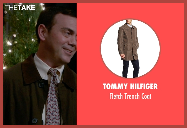 Tommy Hilfiger brown coat from Brooklyn Nine-Nine seen with Charles Boyle (Joe Lo Truglio)