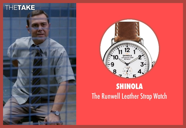 Shinola brown watch from Brooklyn Nine-Nine seen with Charles Boyle (Joe Lo Truglio)
