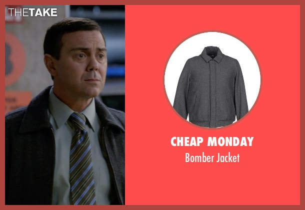 Cheap Monday gray jacket from Brooklyn Nine-Nine seen with Charles Boyle (Joe Lo Truglio)