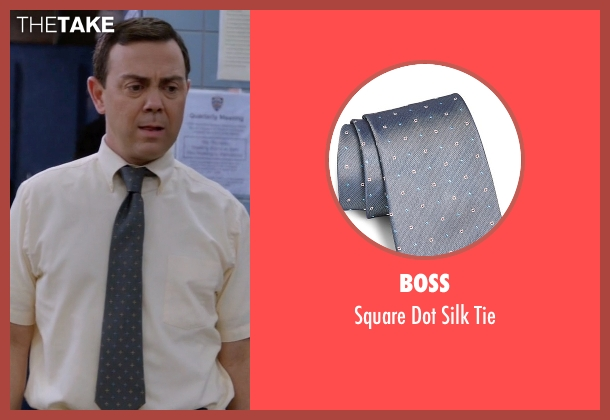 Boss gray tie from Brooklyn Nine-Nine seen with Charles Boyle (Joe Lo Truglio)