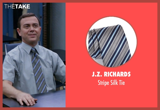 J.Z. Richards gray tie from Brooklyn Nine-Nine seen with Charles Boyle (Joe Lo Truglio)