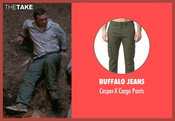 Buffalo Jeans green pants from Brooklyn Nine-Nine seen with Charles Boyle (Joe Lo Truglio)