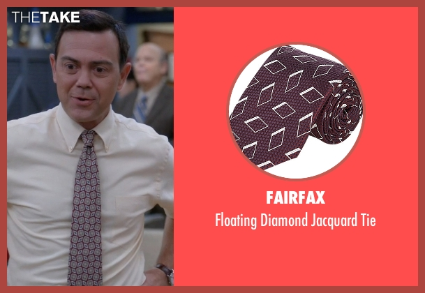 Fairfax red tie from Brooklyn Nine-Nine seen with Charles Boyle (Joe Lo Truglio)