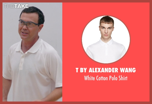 T By Alexander Wang white shirt from Brooklyn Nine-Nine seen with Charles Boyle (Joe Lo Truglio)