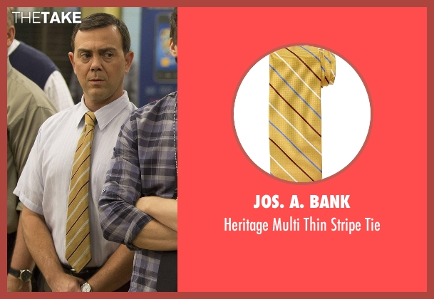JoS. A. Bank yellow tie from Brooklyn Nine-Nine seen with Charles Boyle (Joe Lo Truglio)