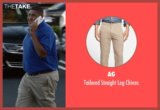 AG beige chinos from Ballers seen with Charles Greane (Omar Benson Miller)