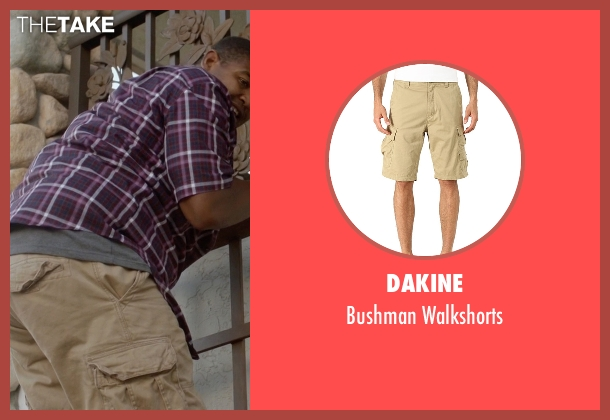 Dakine beige walkshorts from Ballers seen with Charles Greane (Omar Benson Miller)