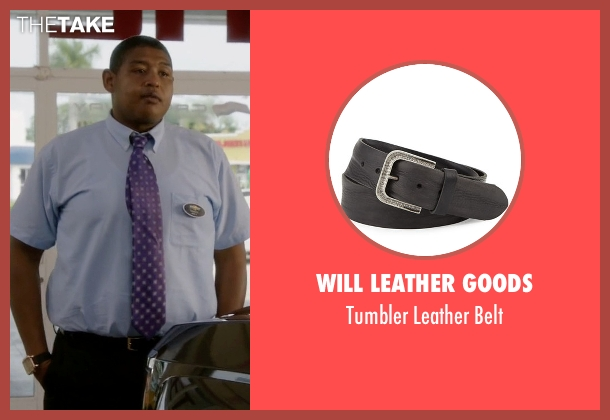Will Leather Goods black belt from Ballers seen with Charles Greane (Omar Benson Miller)