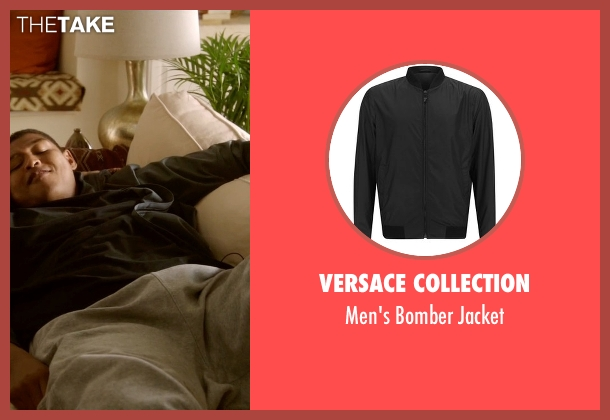 Versace Collection black jacket from Ballers seen with Charles Greane (Omar Benson Miller)