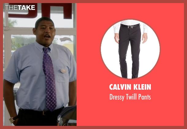 Calvin Klein black pants from Ballers seen with Charles Greane (Omar Benson Miller)