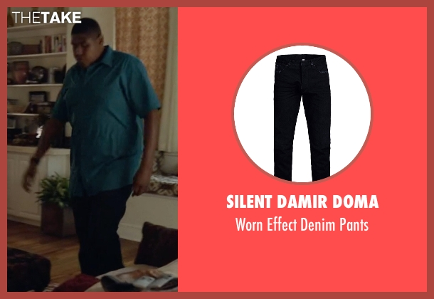 Silent Damir Doma black pants from Ballers seen with Charles Greane (Omar Benson Miller)