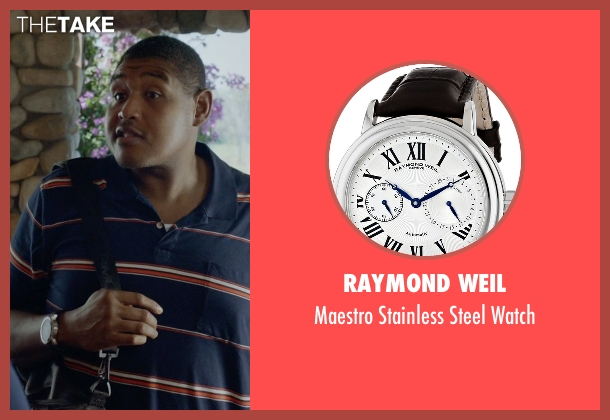Raymond Weil black watch from Ballers seen with Charles Greane (Omar Benson Miller)