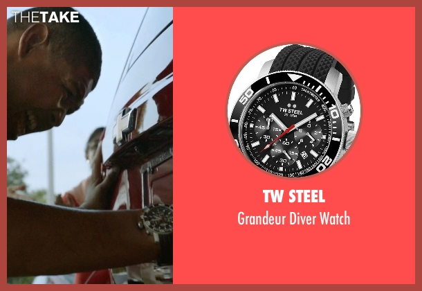 TW Steel black watch from Ballers seen with Charles Greane (Omar Benson Miller)