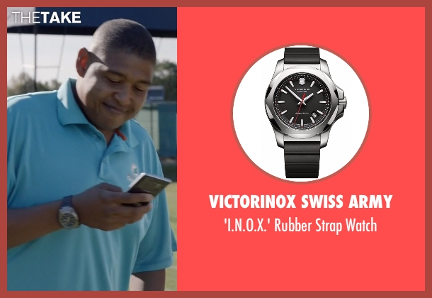 Victorinox Swiss Army black watch from Ballers seen with Charles Greane (Omar Benson Miller)