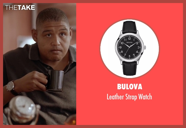 Bulova black watch from Ballers seen with Charles Greane (Omar Benson Miller)