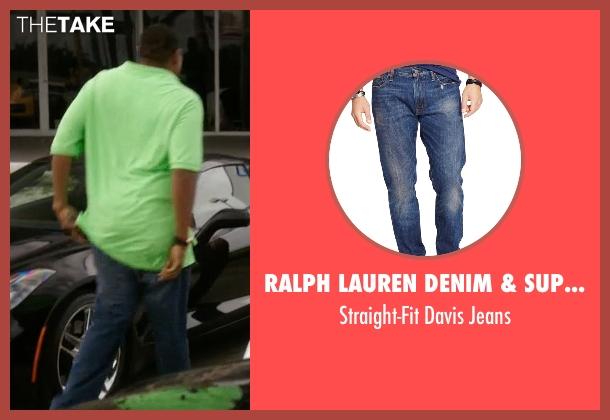 Ralph Lauren Denim & Supply blue jeans from Ballers seen with Charles Greane (Omar Benson Miller)