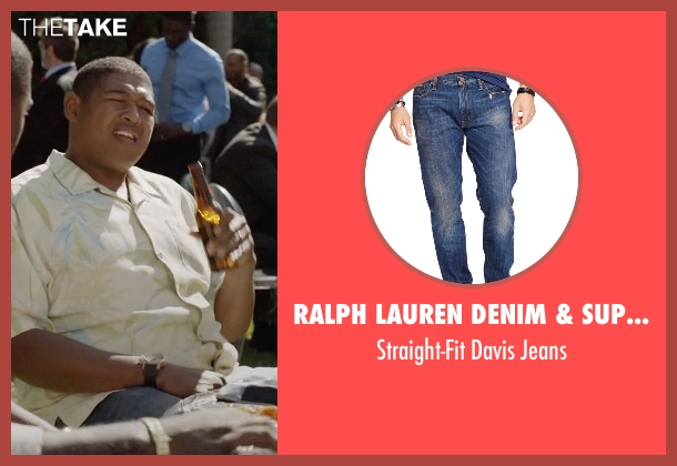 Ralph Lauren Denim & Supply blue jeans from Ballers seen with Charles Greane (Omar Benson Miller)