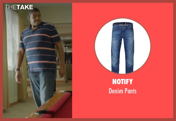 Notify blue pants from Ballers seen with Charles Greane (Omar Benson Miller)