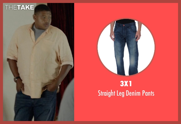 3x1 blue pants from Ballers seen with Charles Greane (Omar Benson Miller)