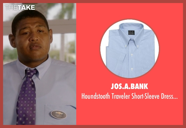Jos.A.Bank blue shirt from Ballers seen with Charles Greane (Omar Benson Miller)