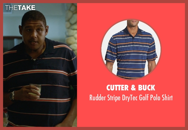 Cutter & Buck blue shirt from Ballers seen with Charles Greane (Omar Benson Miller)