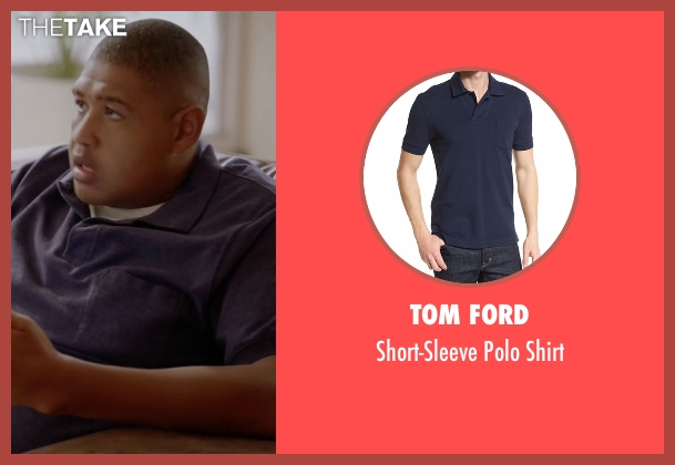 Tom Ford blue shirt from Ballers seen with Charles Greane (Omar Benson Miller)