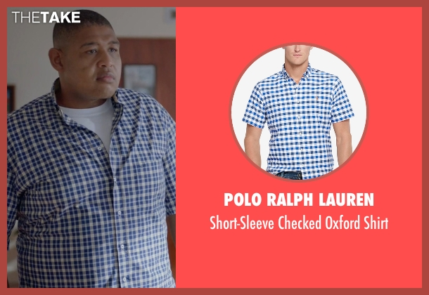Polo Ralph Lauren blue shirt from Ballers seen with Charles Greane (Omar Benson Miller)