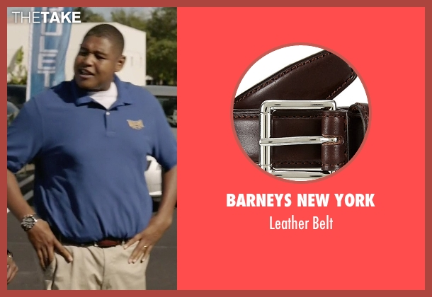 Barneys New York brown belt from Ballers seen with Charles Greane (Omar Benson Miller)