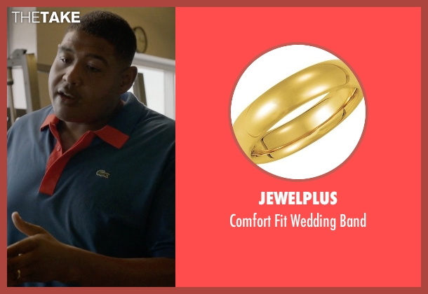 Jewelplus gold band from Ballers seen with Charles Greane (Omar Benson Miller)