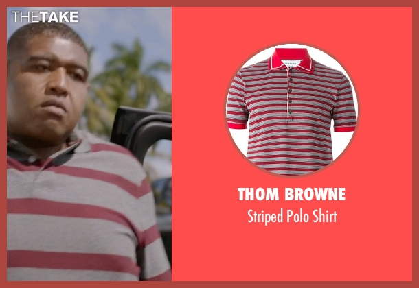 Thom Browne gray shirt from Ballers seen with Charles Greane (Omar Benson Miller)