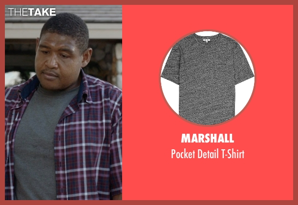 Marshall gray t-shirt from Ballers seen with Charles Greane (Omar Benson Miller)