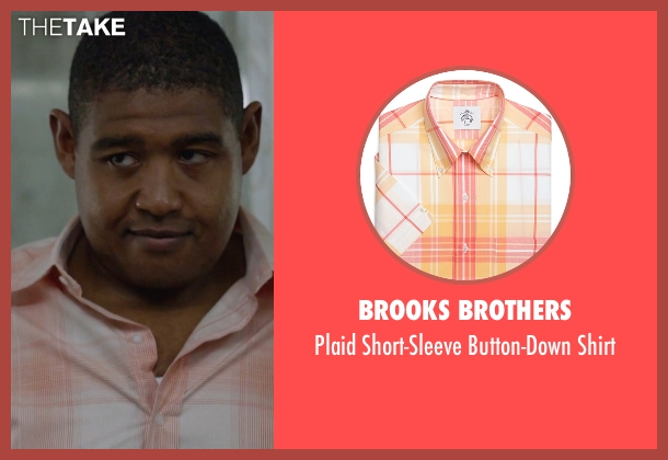 Brooks Brothers orange shirt from Ballers seen with Charles Greane (Omar Benson Miller)
