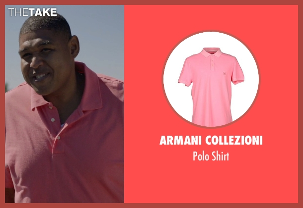 Armani Collezioni pink shirt from Ballers seen with Charles Greane (Omar Benson Miller)