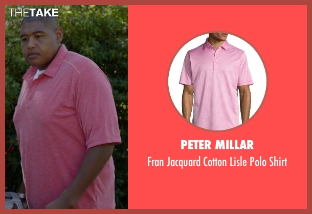 Peter Millar pink shirt from Ballers seen with Charles Greane (Omar Benson Miller)