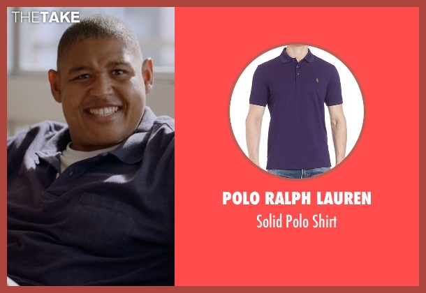 Polo Ralph Lauren  purple shirt from Ballers seen with Charles Greane (Omar Benson Miller)