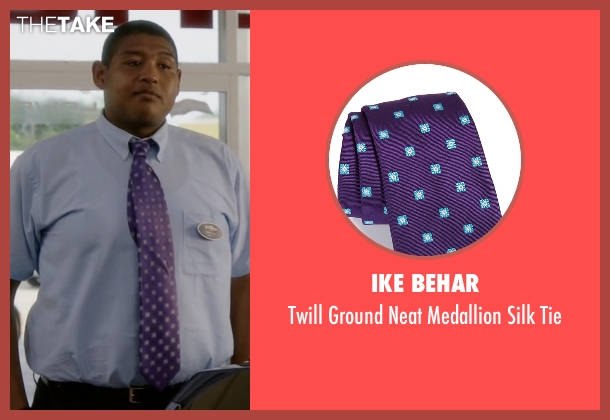 Ike Behar purple tie from Ballers seen with Charles Greane (Omar Benson Miller)