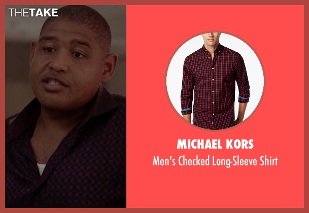 Michael Kors red shirt from Ballers seen with Charles Greane (Omar Benson Miller)