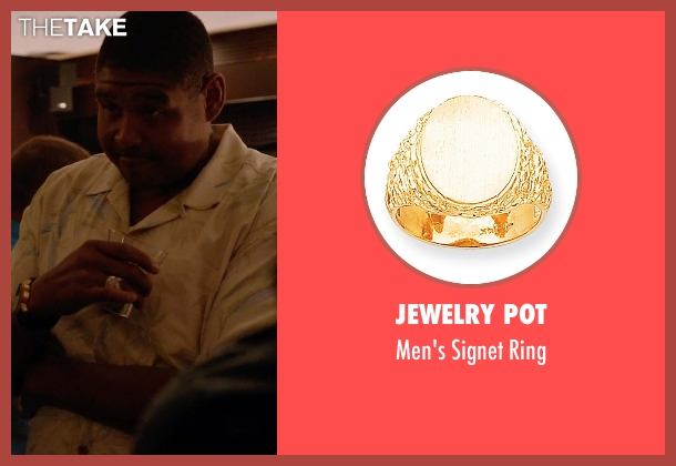 Jewelry Pot ring from Ballers seen with Charles Greane (Omar Benson Miller)