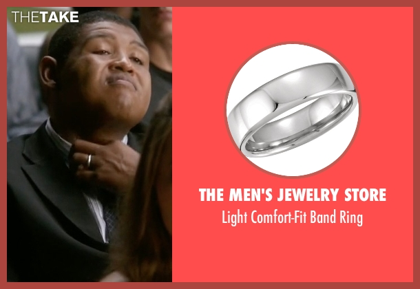 The Men's Jewelry Store silver ring from Ballers seen with Charles Greane (Omar Benson Miller)