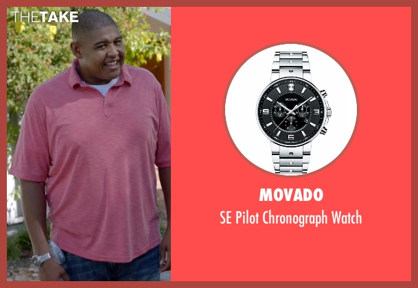 Movado silver watch from Ballers seen with Charles Greane (Omar Benson Miller)