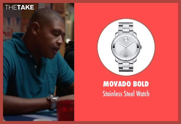 Movado Bold silver watch from Ballers seen with Charles Greane (Omar Benson Miller)