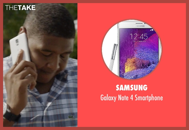 Samsung smartphone from Ballers seen with Charles Greane (Omar Benson Miller)