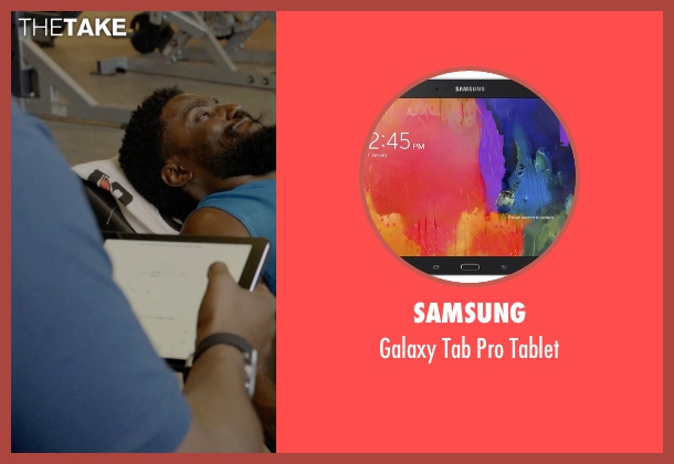 Samsung tablet from Ballers seen with Charles Greane (Omar Benson Miller)