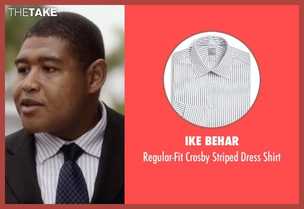 Ike Behar white shirt from Ballers seen with Charles Greane (Omar Benson Miller)