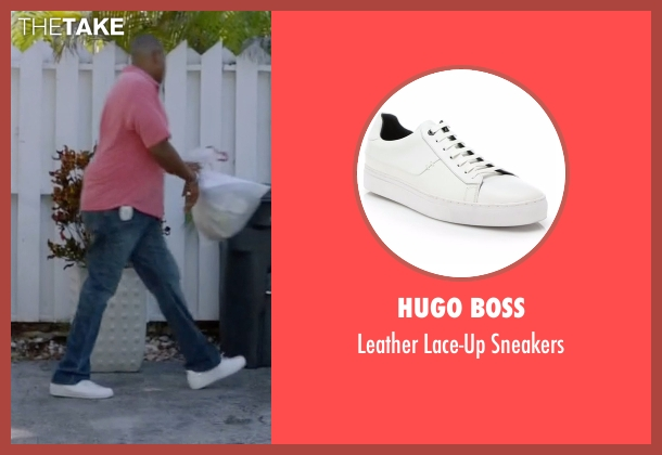 Hugo Boss white sneakers from Ballers seen with Charles Greane (Omar Benson Miller)