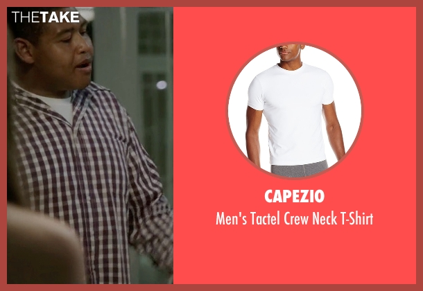 Capezio white t-shirt from Ballers seen with Charles Greane (Omar Benson Miller)