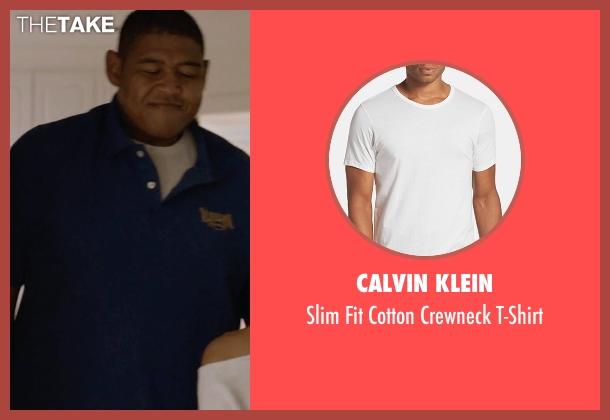 Calvin Klein white t-shirt from Ballers seen with Charles Greane (Omar Benson Miller)